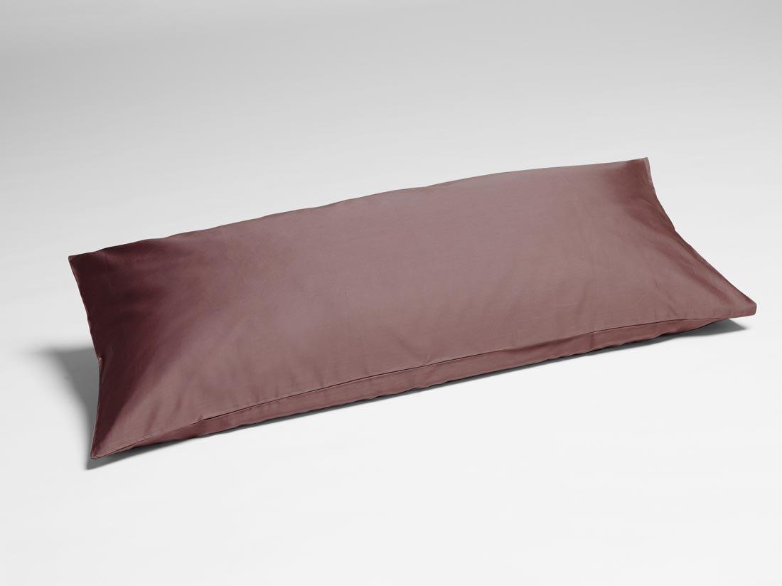 Kissenbezug Baumwollsatin Rose Brown 40x80