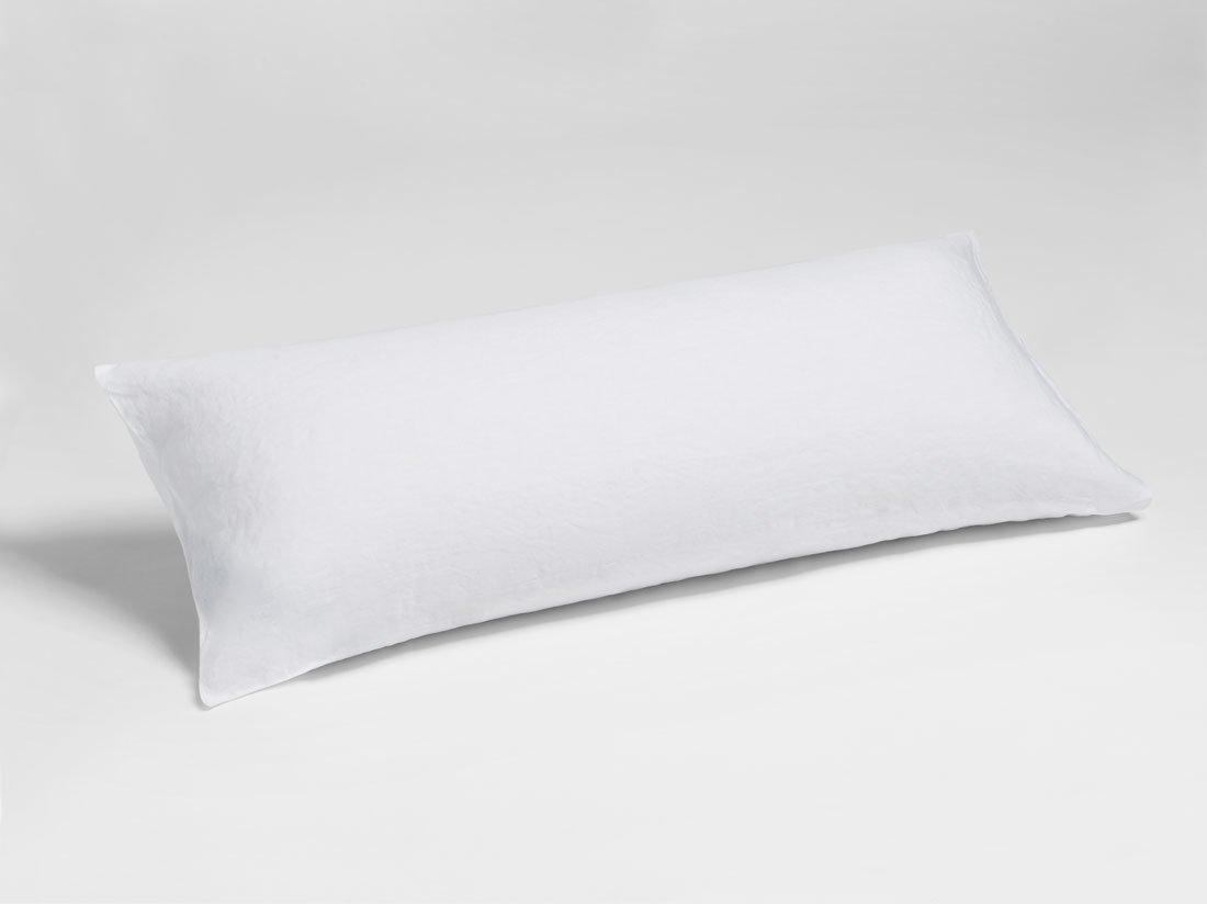 Kissenbezug Gewaschen Leinen Pure White 40x80
