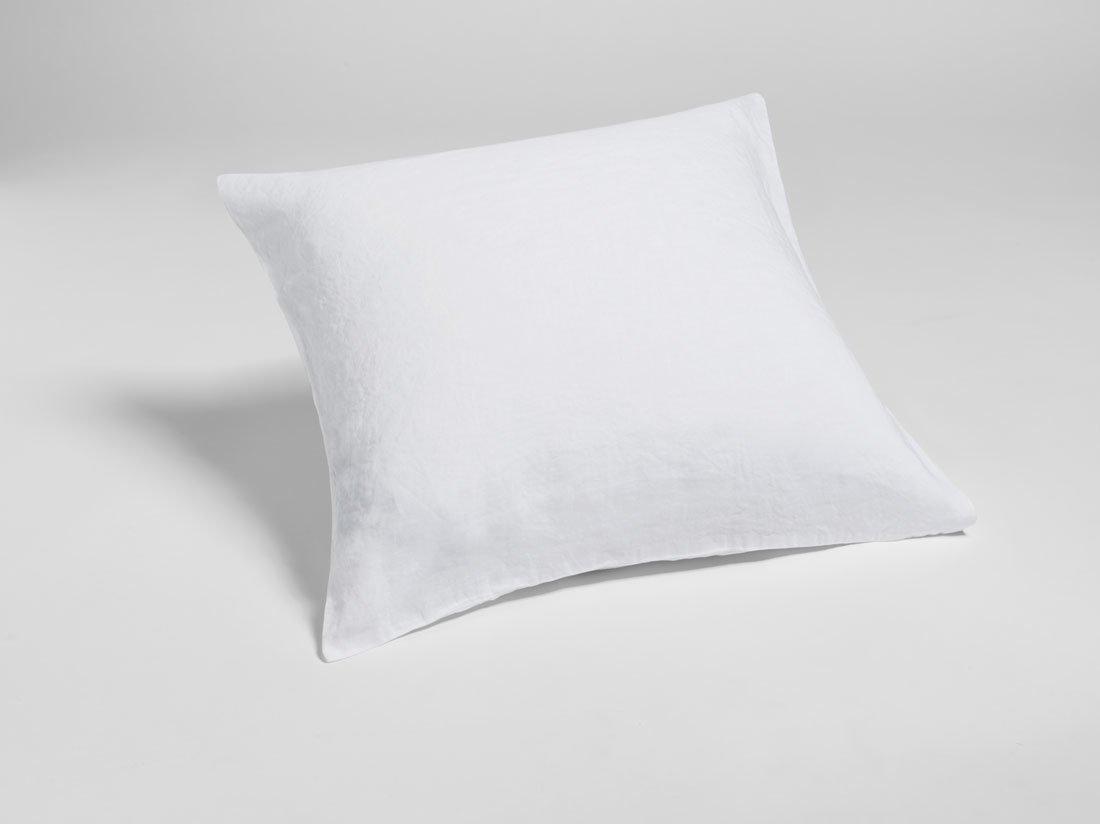 Kissenbezug Gewaschen Leinen Pure White 80x80