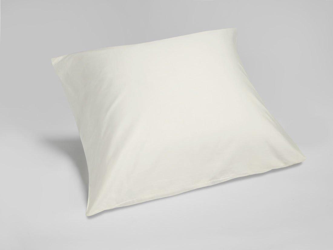 Kissenbezug Baumwollsatin Warm White 80x80
