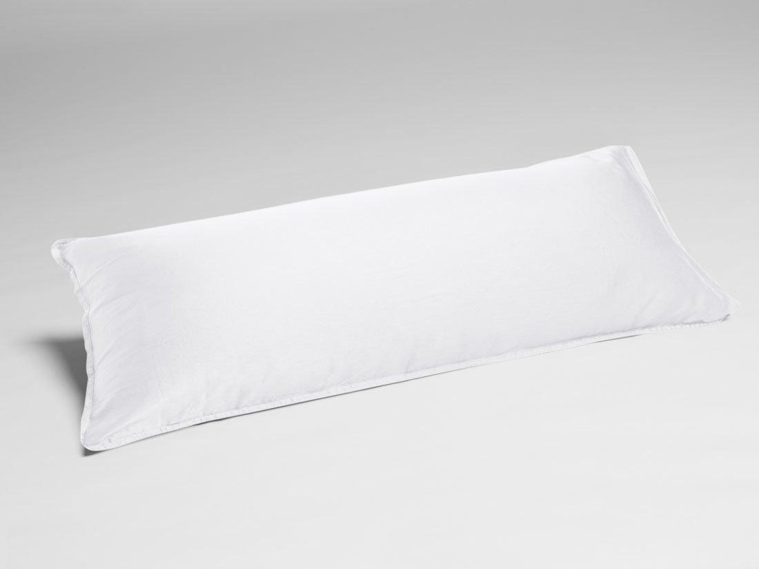 Kissenbezug Gewaschen Baumwollsatin White 40x80