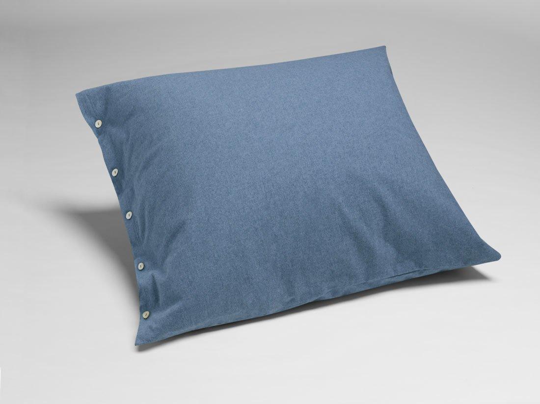 Kissenbezug Velvet Flanell Denim Blue 80x80
