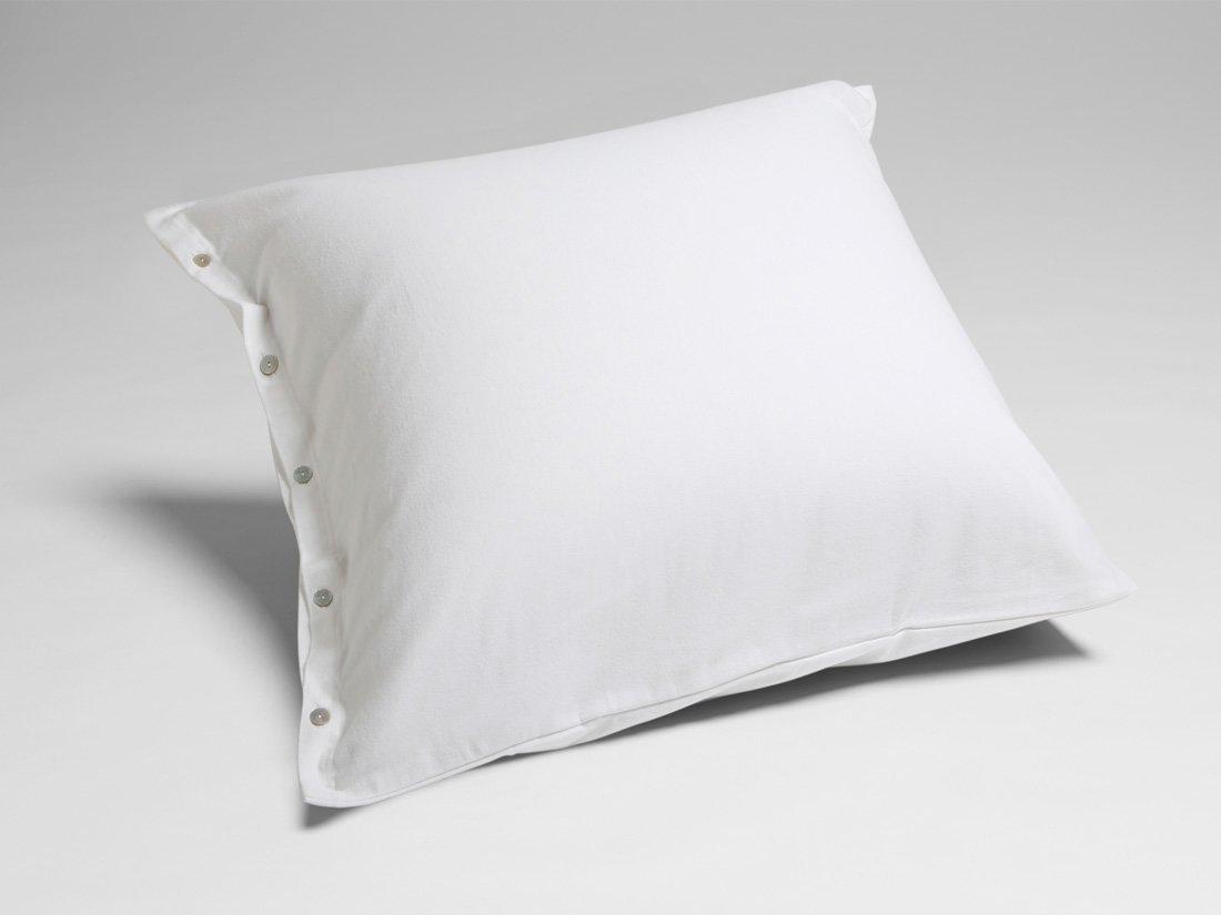 Kissenbezug Velvet Flanell Pure White 80x80