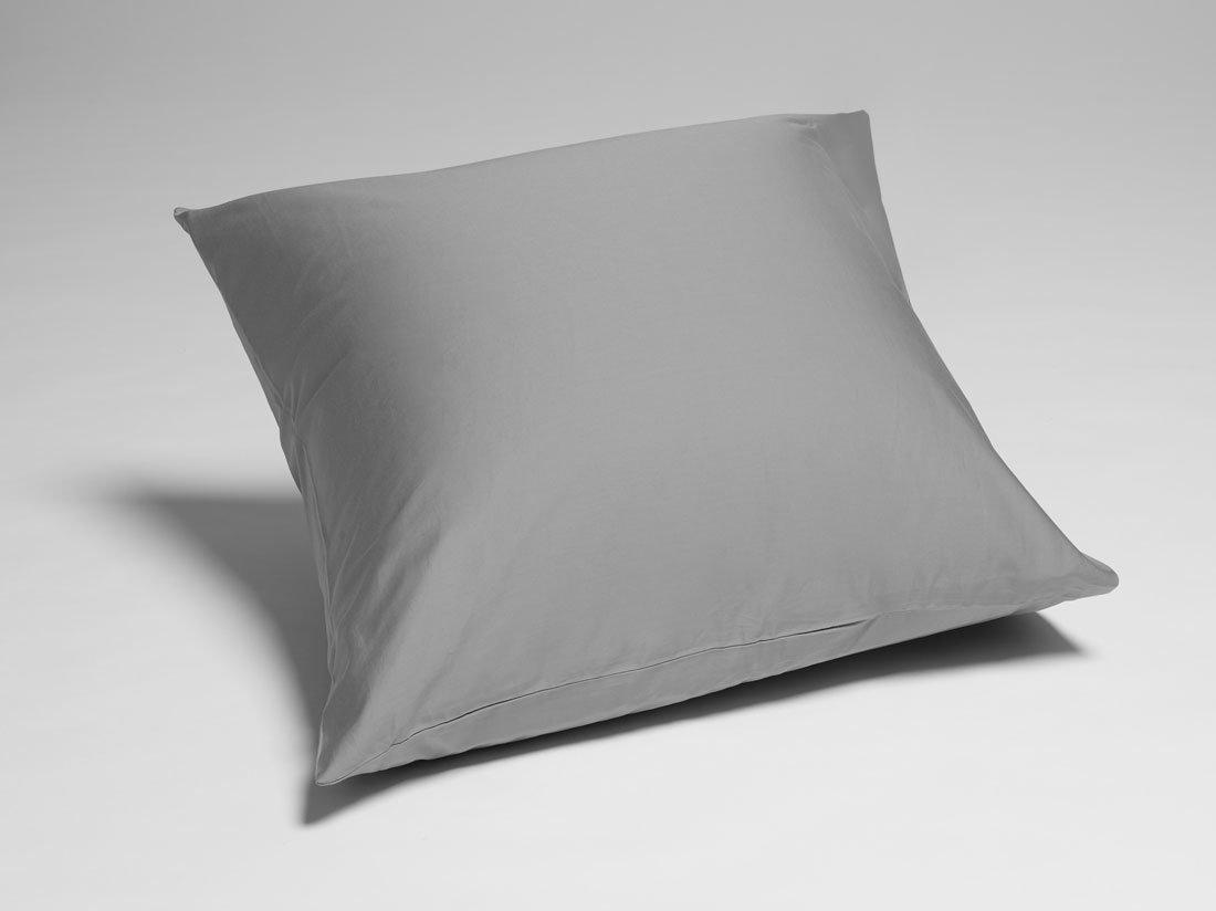 Kissenbezug Baumwollsatin Stone Grey 80x80