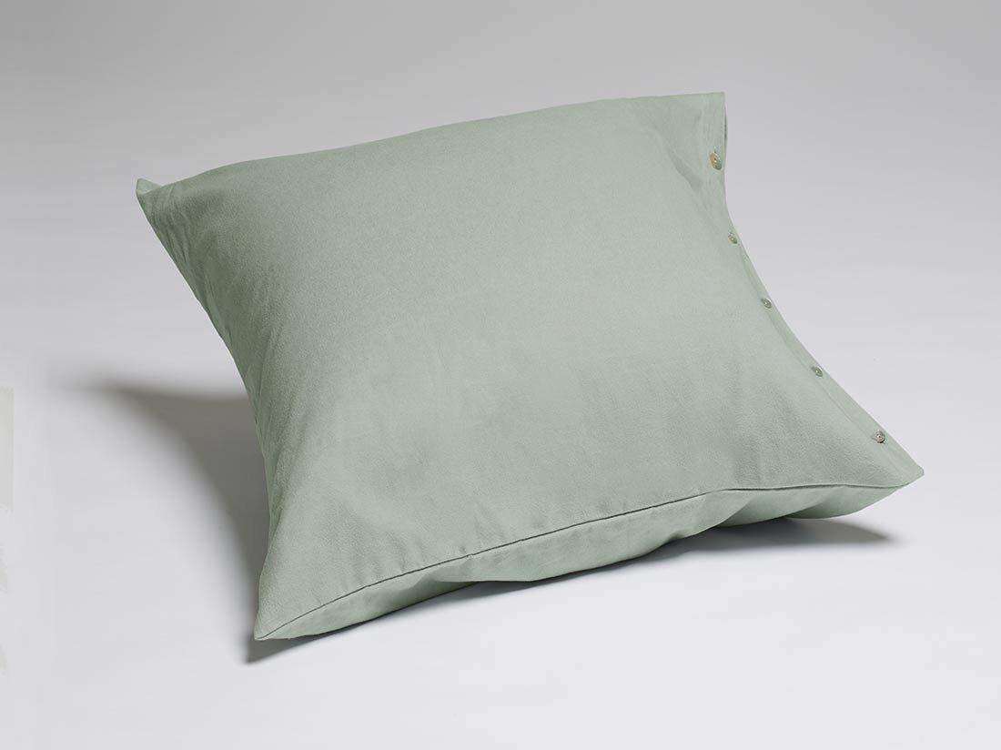 Kissenbezug Velvet Flanell Pale Green 80x80