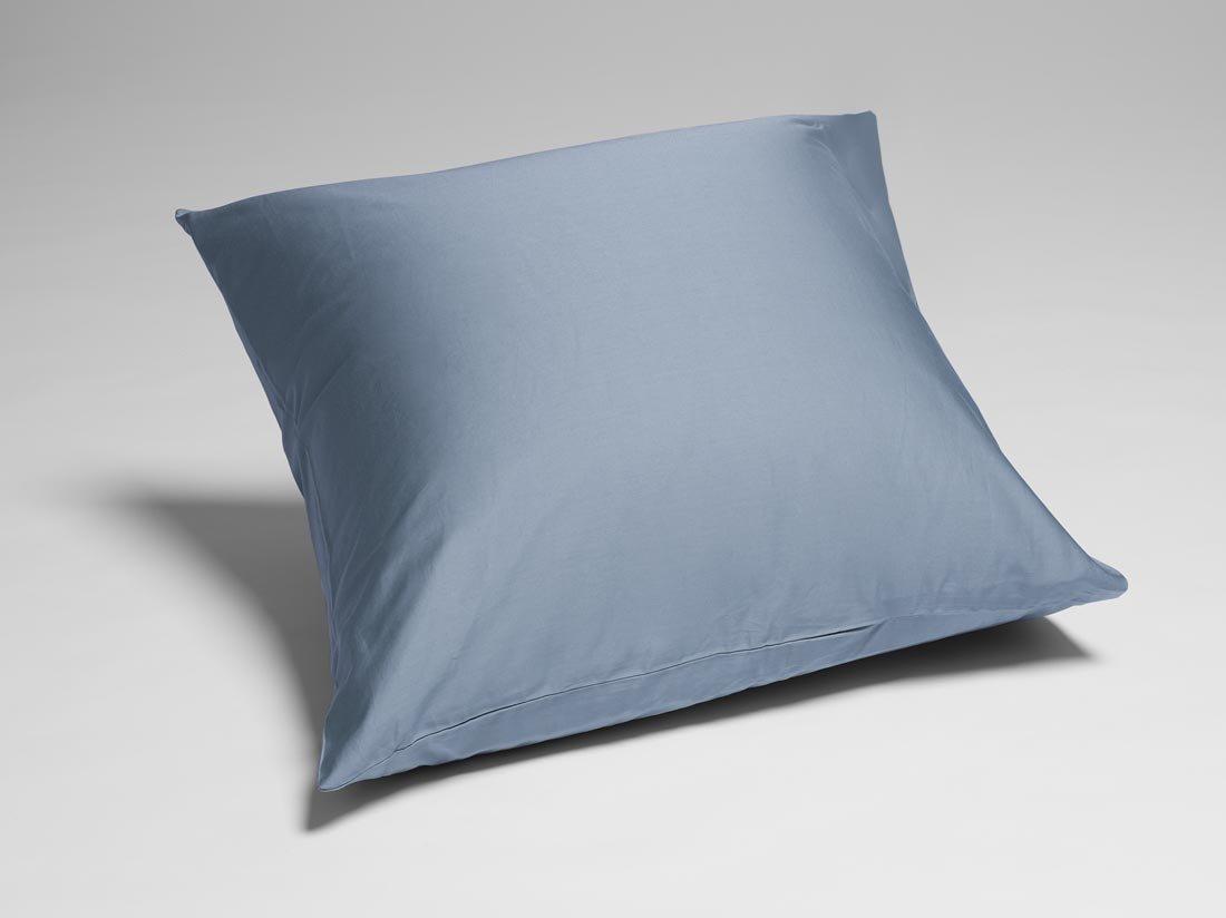 Kissenbezug Baumwollsatin Faded Blue 80x80