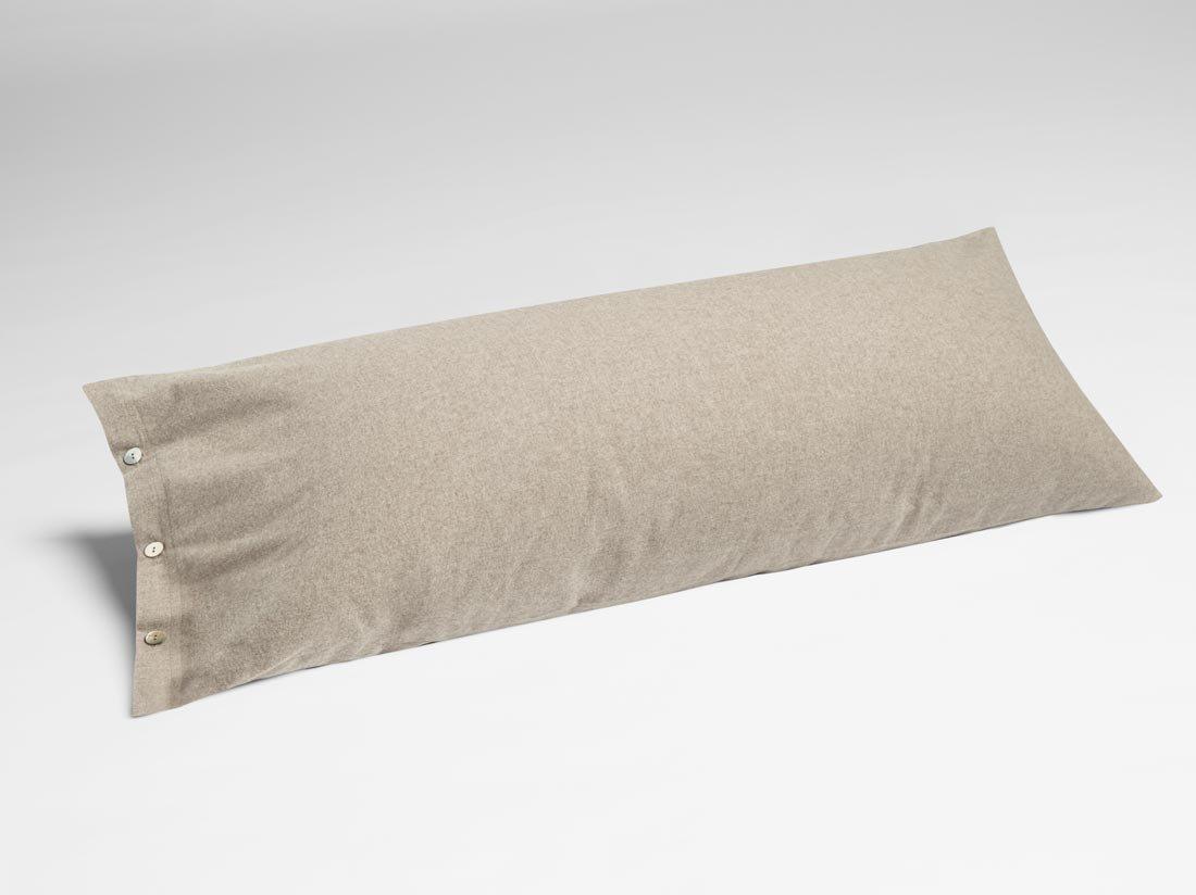 Kissenbezug Velvet Flanell Stone Brown 40x80