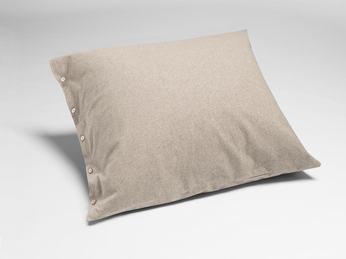 Kissenbezug Velvet Flanell Stone Brown 80x80