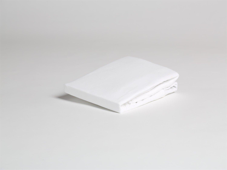 Spannbettlaken Jersey Pure White 140x200x30