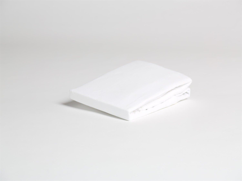 Spannbettlaken Jersey Pure White 160x210x30