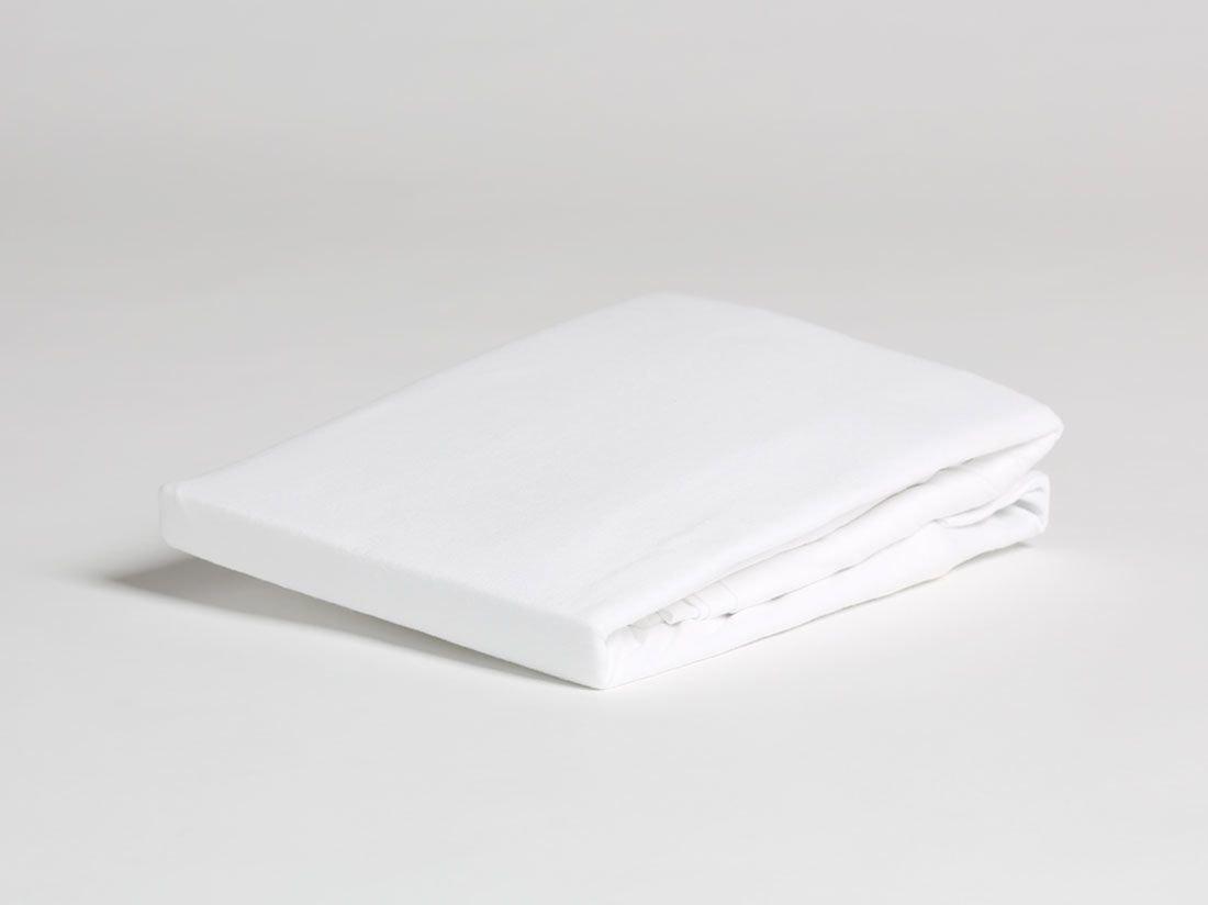 Spannbettlaken Jersey Pure White 90x210x30