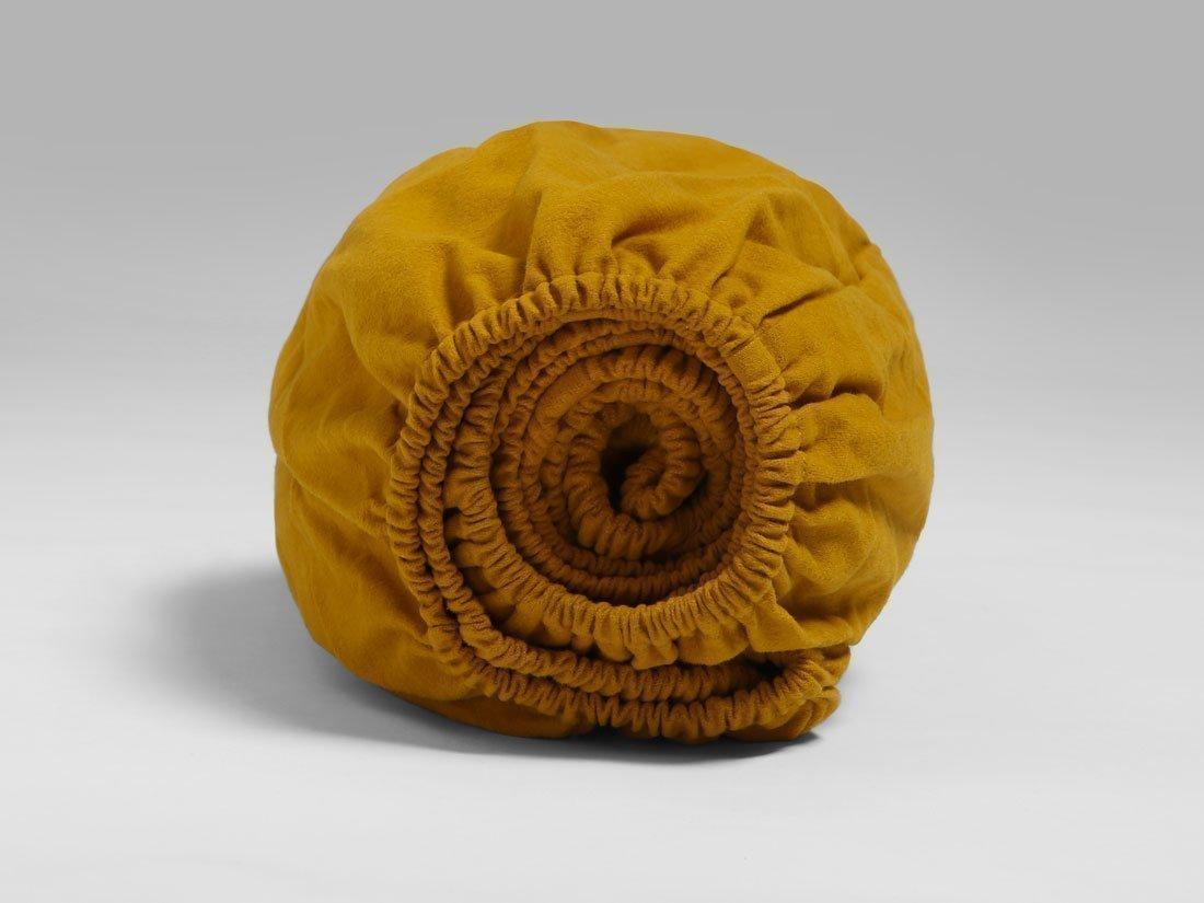 Spannbettlaken Velvet Flanell Indian Yellow 90x200x30