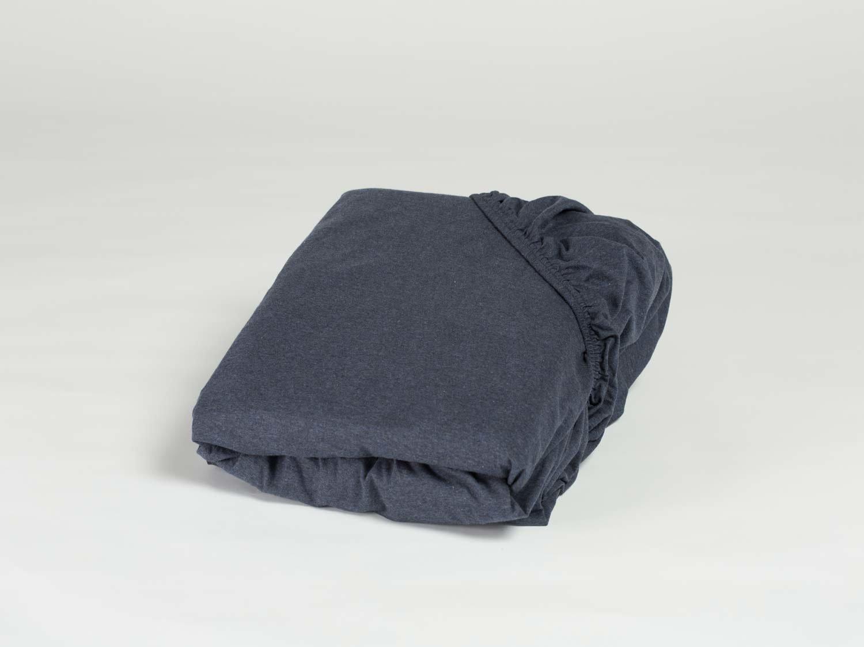 Spannbettlaken Jersey Indigo Blue 180x210x30