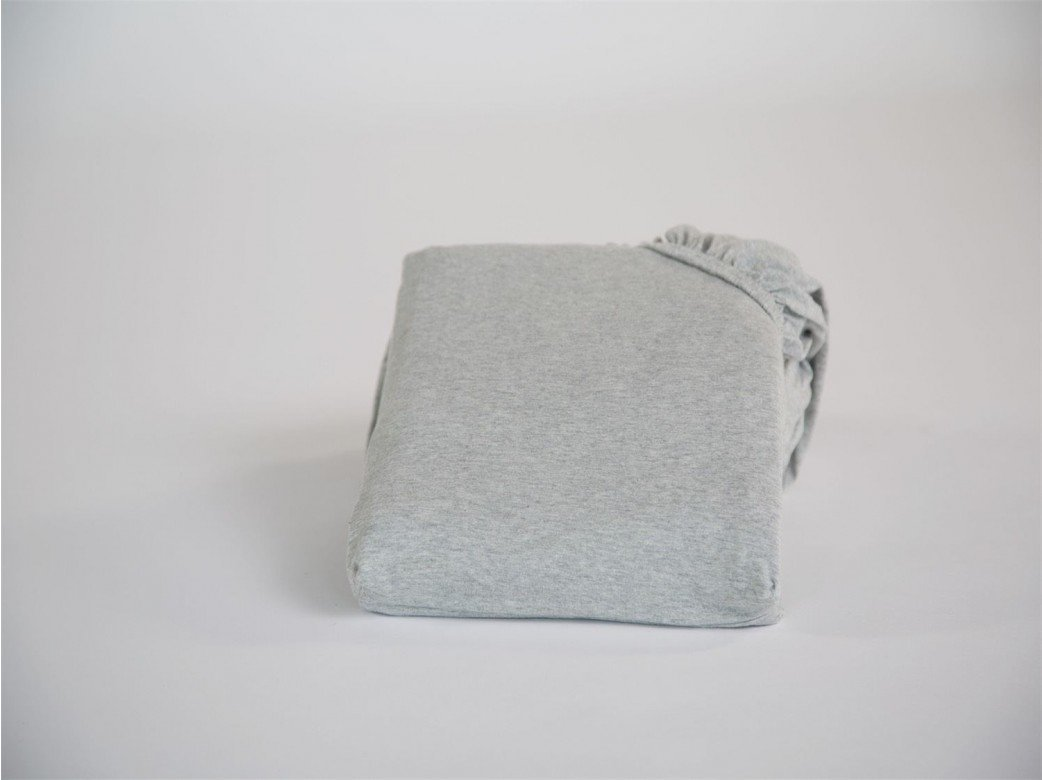 Spannbettlaken Jersey White Grey 80x200x30