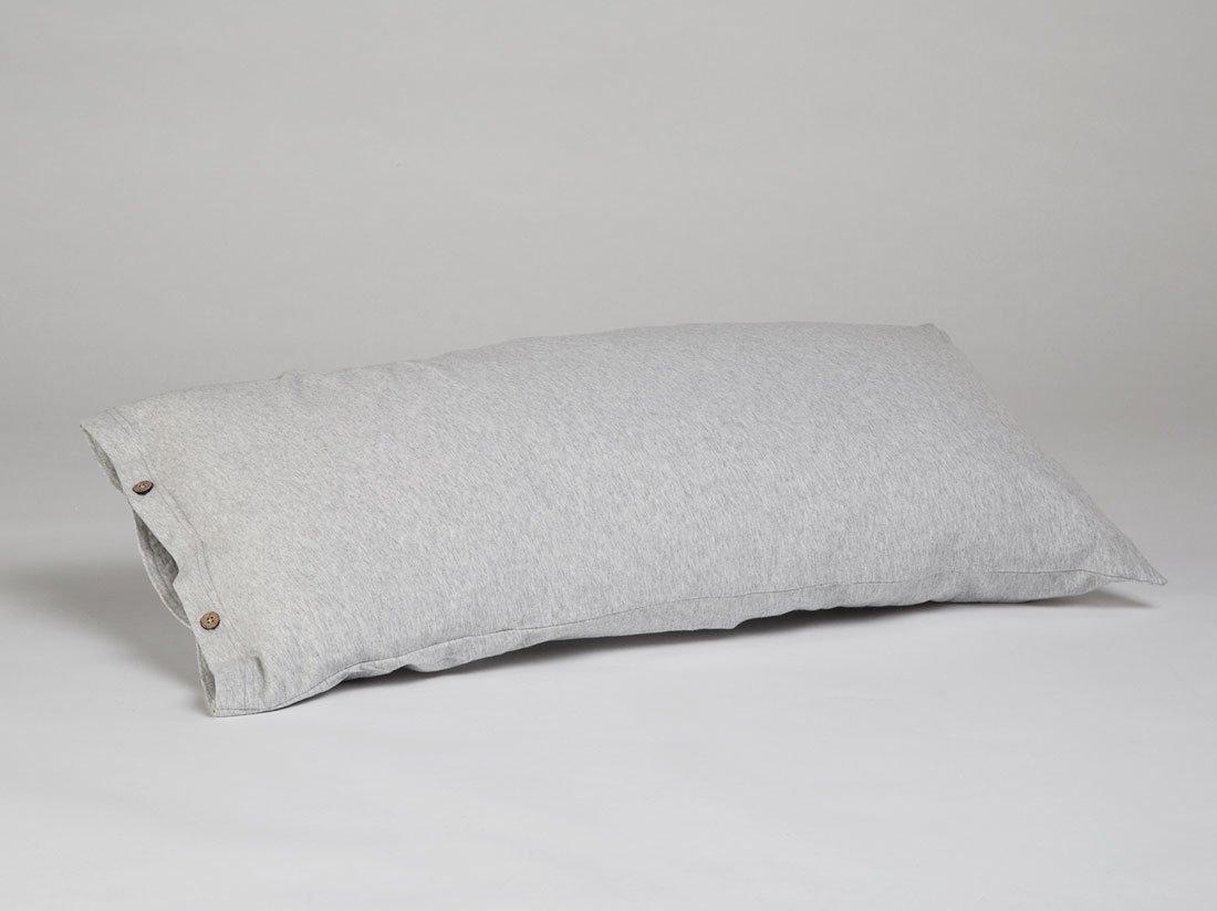 Kissenbezug Jersey White Grey 40x80