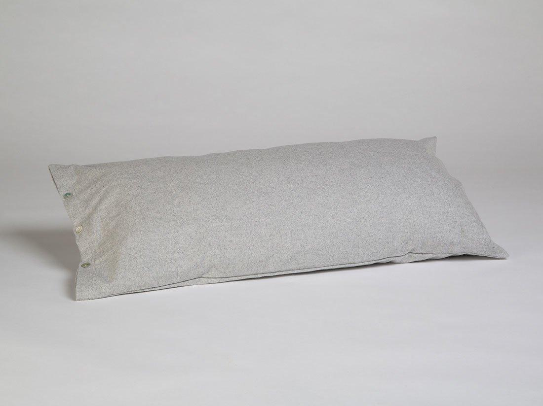 Kissenbezug Velvet Flanell Light Grey 40x80