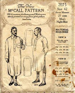 Pyjama uit Victoriaanse tijd