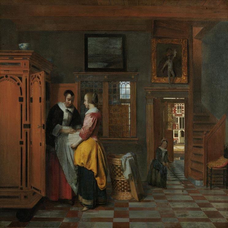 Linnenkast in de 17e eeuw