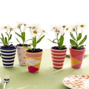 Gebruik single sokken voor je nieuwe bloempot