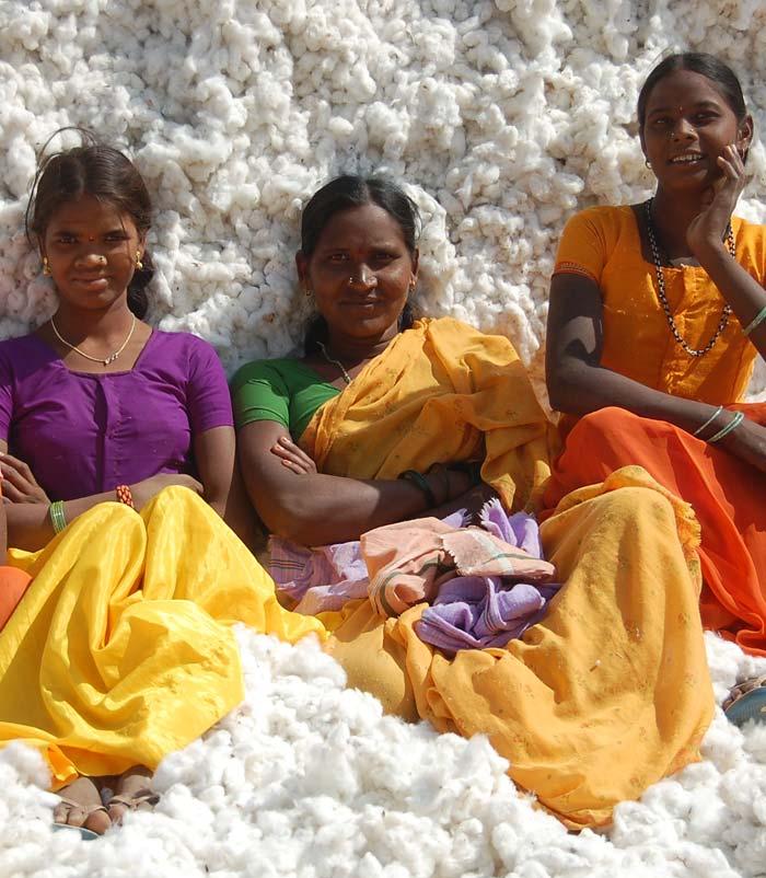 Vrouwen bij de boeren coöperatie Chetna