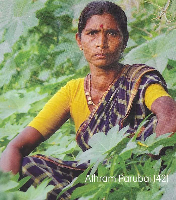 Ashram was al een leider van haar organic farming werkgroep toen zij in 2014 verkozen werd in de Board of Directors van de coöperatie in Pragathi. Ze zorgt ook nog voor haar 6 kinderen. Ze is een drijvende kracht achter de strijd voor gelijke rechten voor vrouwen in haar regio.
