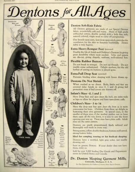 De eerste masse geproduceerde pyjama