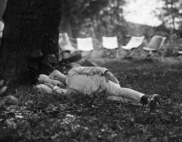Edison sliep niet, deed alleen dutjes.