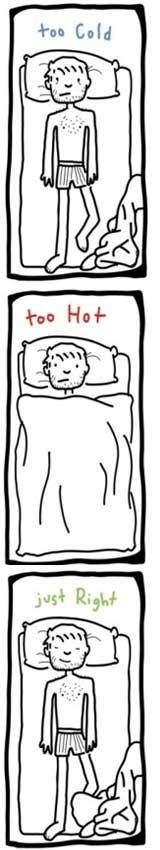 ik heb het te warm of te koud in bed
