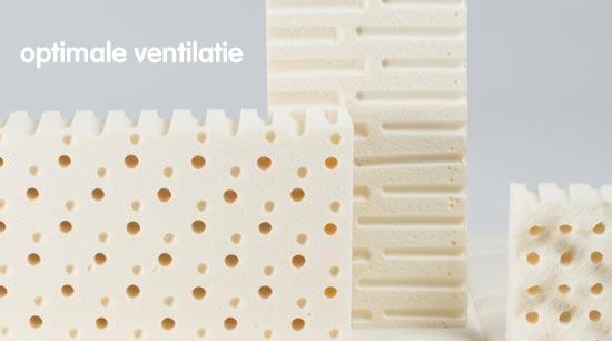 In de Yumeko matrassen en toppers zit hoge kwaliteit natuurlatex. Door de constructie ventileren deze optimaal.