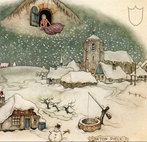 Vrouwe Holle: de oorsprong van donzen dekbedden?
