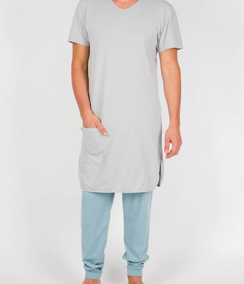 Lange nachtjapon dames in mineral blue | Yumeko